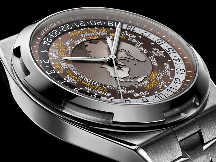 Overseas World Time ref. 7700V-110A-B176, with the brown dial.