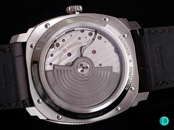 The caseback, showing the new C.5100/1.
