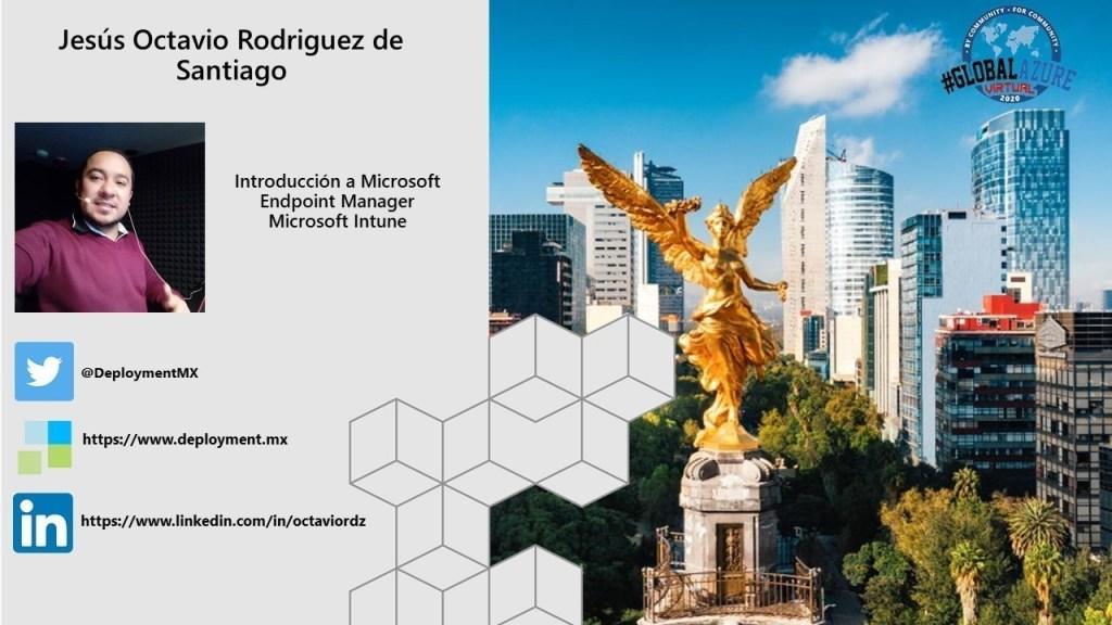 Global Azure MX 2020 -Introducción a Microsoft Intune