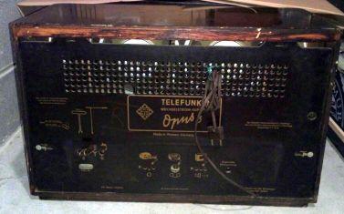 Radio Telefunken Opus 6 - pannello posteriore