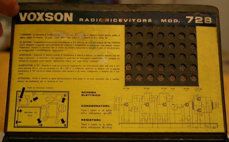 Radio Voxson Sportsman 60 728 a transistor