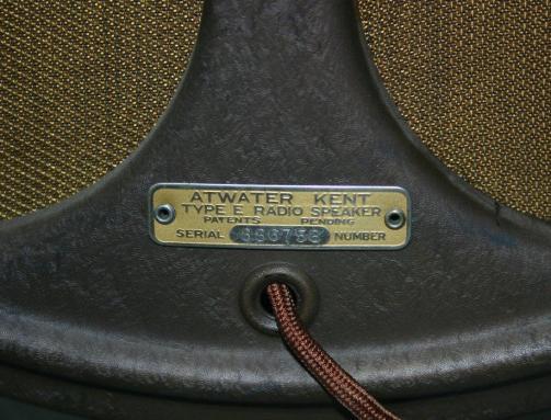 US_Atwater_Kent_Type_E_Radio_Speaker_plate