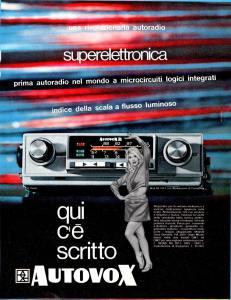 Pubblicità Autovox RA2011-RA2001