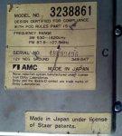AMC 3238861 autoradio