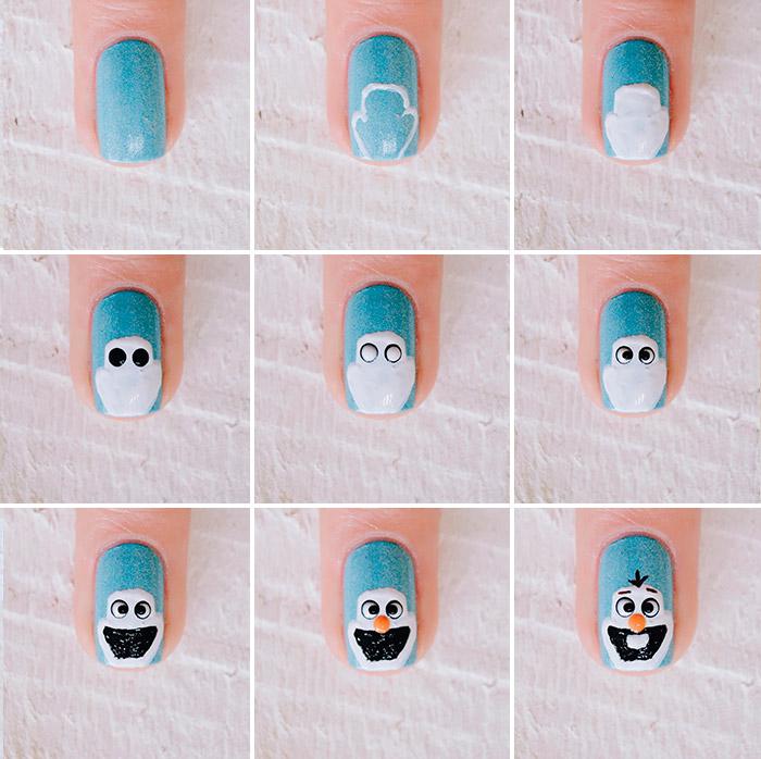 nail-art-olaf-frozen