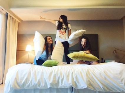 Festa do pijama no hotel