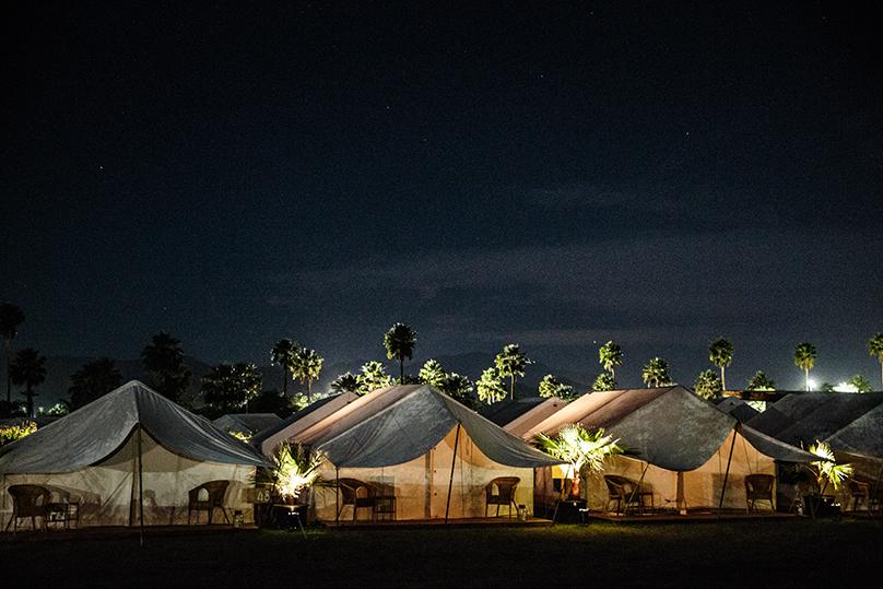 Safari Camp at Coachella, California, April 21, 2016.