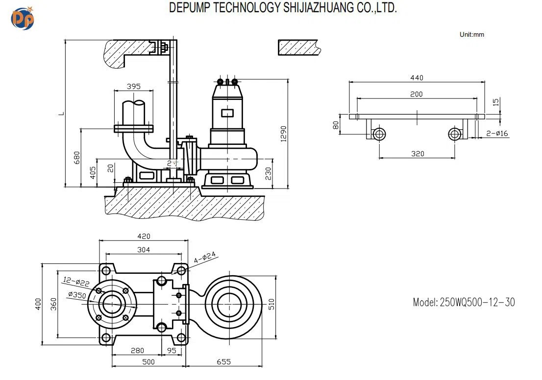 Submersible Sewage Pump Centrifugal Pump For Dredging