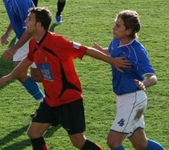 Imagen del partido entre el Sporting Mahonés y Mallorca B