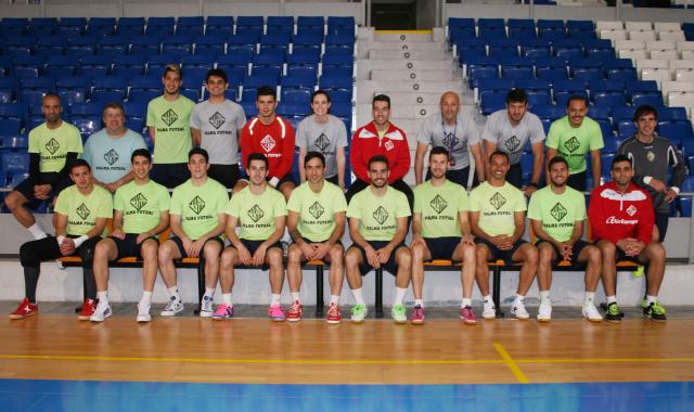 La plantilla del Palma Futsal posa hoy en Son Moix