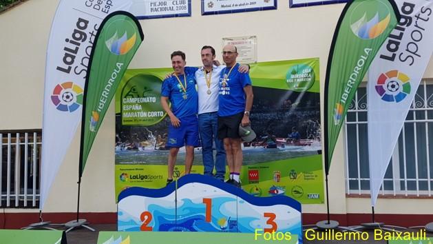 Julian Serrano - Oro Master en Campeonato de españa maraton corto canoa