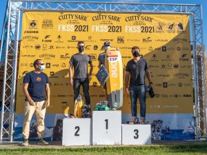 El podio final de la regata en la categoría Open. TONI FORQUÉSFKSS