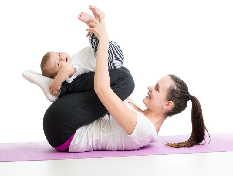 ejercicios que puedes hacer con tu bebé