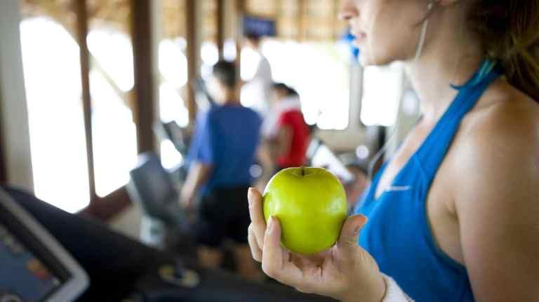 deporte y frutas deshidratadas