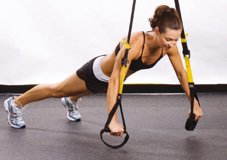 Flexiones de brazos con TRX