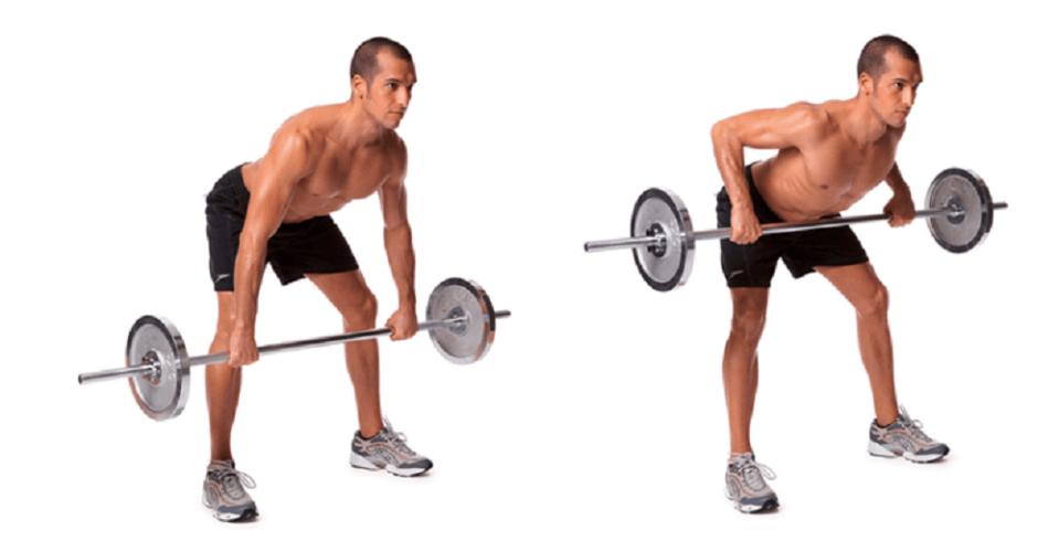 Remo con barra para trabajar zona dorsal