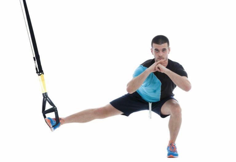 ejercicios de pierna con TRX