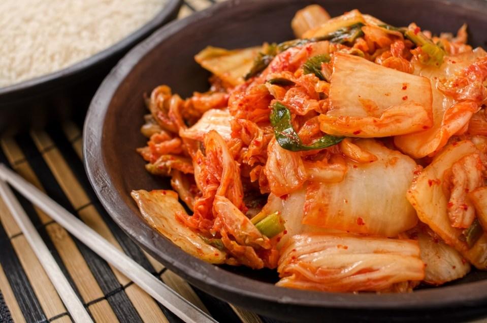 Plato de kimchi