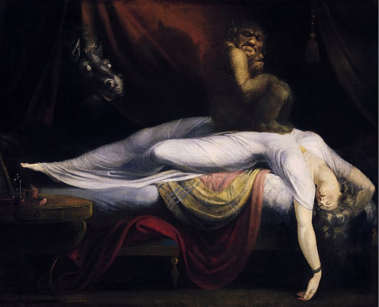 La parálisis del sueño se ha representado en el arte muchas veces