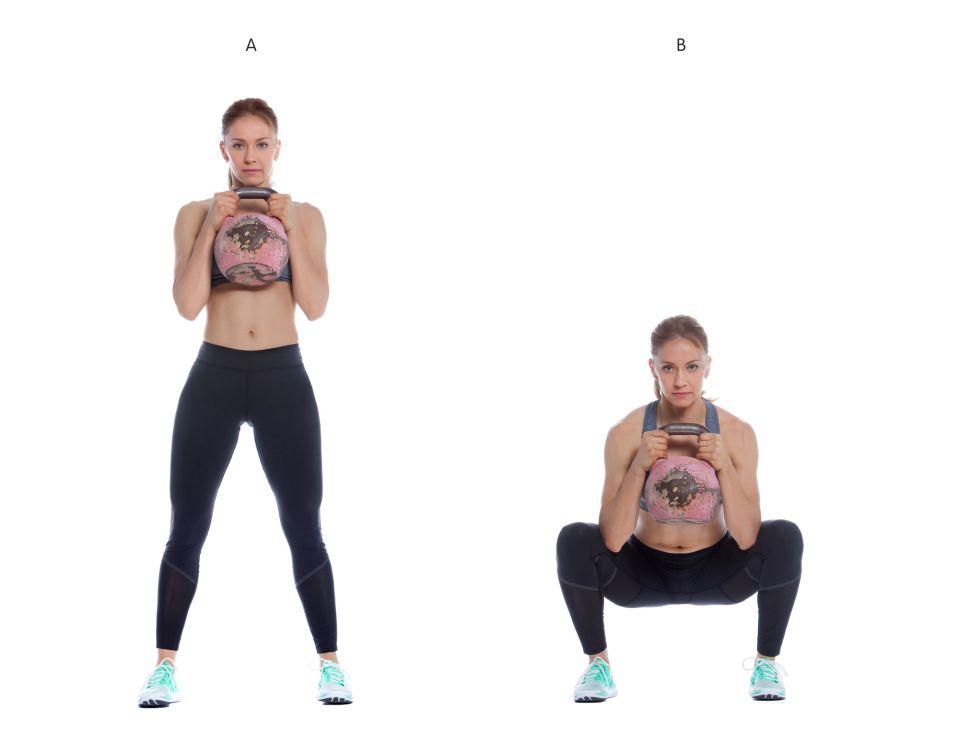 Globet squat piernas trabajadas en poco tiempo