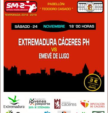 El Extremadura CCPH recibe al EMEVÉ, lider invicto