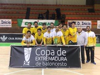 El ADC Baloncesto Cáceres subcampeón de la Copa de Extremadura 2019