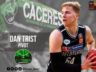 Esta tarde el Cáceres Ciudad del Baloncesto presenta al australiano Dan Trist