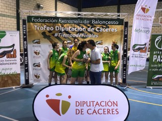 El C.B. Al-Qazeres campeón del Trofeo Diputación de Cáceres de Baloncesto