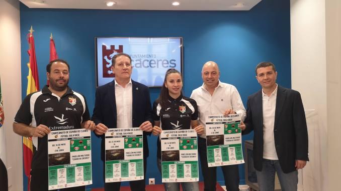 Presentación Campeonato Nacional de Clubes de Fútbol Sala Base en Categoría Cadete Femenina