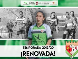 La internacional chilena Ana Gutiérrez volverá a vestir la camiseta del Femenino Cáceres durante la temporada 201920