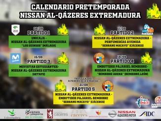 Calendario de pretemporada Nissan Al-Qázeres Extremadura