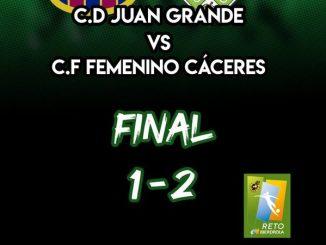 Victoria del C.F Femenino Cáceres frente al C.D Juan Grande en la sexta jornada de la Liga Reto Iberdrola