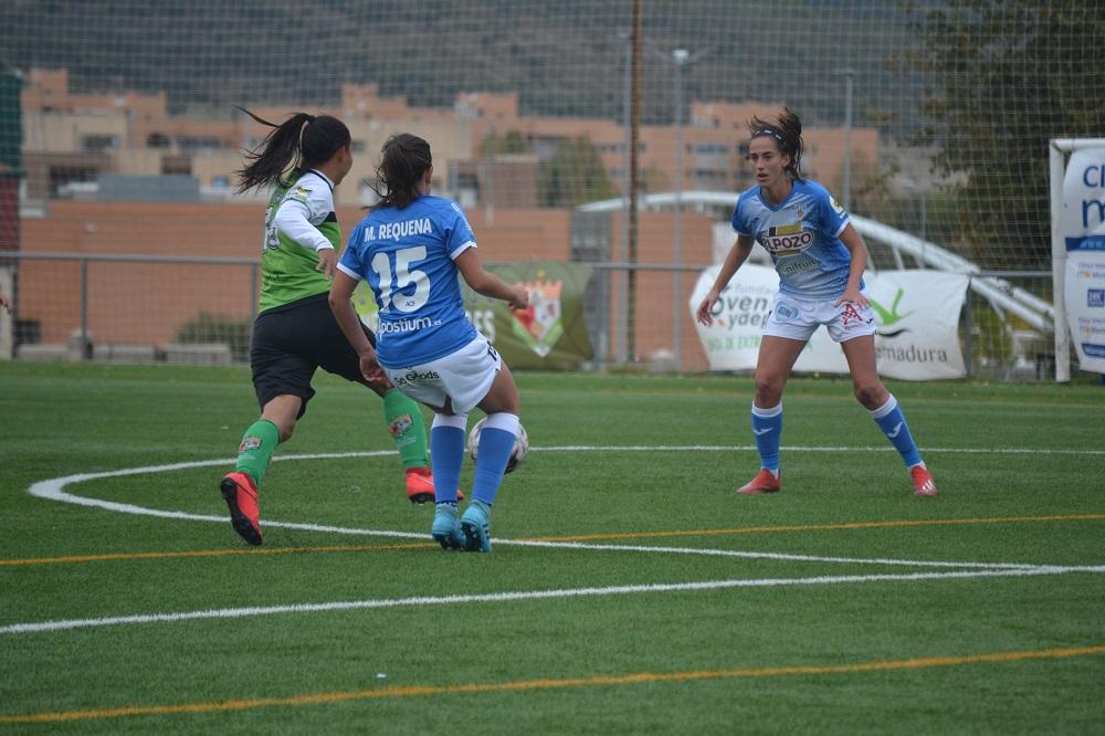 Victoria del C.F. Femenino Cáceres en la novena jornada de liga ante el Alhama C.F.