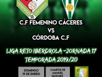 Previa del partido C.F FEMENINO CÁCERES - CÓRDOBA C.F