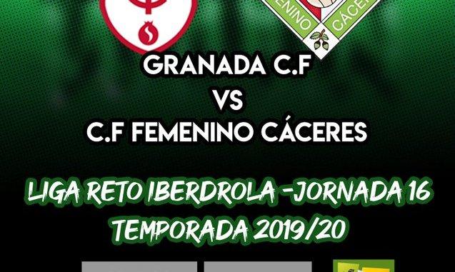 Previa del partido GRANADA C.F - C.F FEMENINO CÁCERES