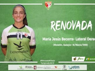 Renovación de María Jesús Becerra por el C.F Femenino Cáceres