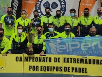 Décimo campeonato del Perú Cáceres Wellness, revalida el título de Campeón de Extremadura de Padel