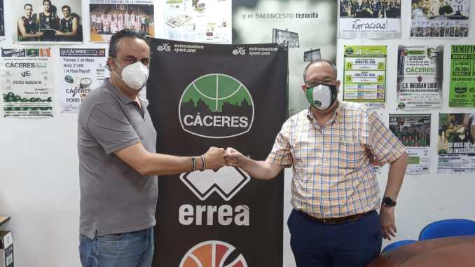 Juan Luis Martin (Extremadura Sport) y José Manuel Sánchez