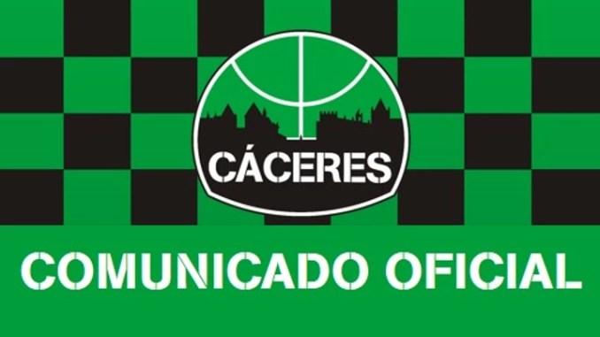 Comunicado Oficial Cáceres