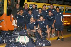 La delegación de Itapúa salió el domingo por la noche rumbo a Buenos Aires en colectivo. Este lunes tomará el avión que los dejará en Mendoza. El Sudamericano arranca el martes (Foto Sólo Futsal)