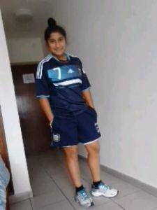La futbolista posadeña juega en San Lorenzo de Almagro y forma parte del plantel de mayores