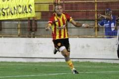 Julio Cáceres gritando gol