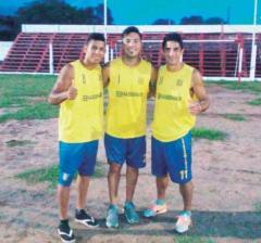 Gustavo Bóveda, Javier Galeano y Manuel Sánchez Ocaña recorrieron las instalaciones del Coliseo Rojo (Foto El Territorio)