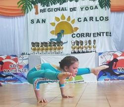 Buena participación en el regional de yoga