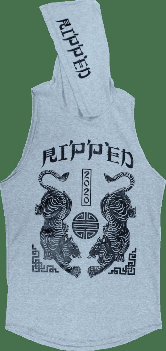 tigre gris resaque gorro