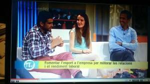 "En ""Els matins de TV3"" analizando el fenómeno del running"