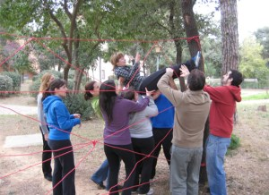 Sesión de Outdoor Trainning sobre trabajo efectivo en equipo