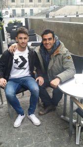 Celebrando la renovación por 4 años con el Real Madrid de Jaime Sánchez, jugador con el que llevo 4 años trabajando