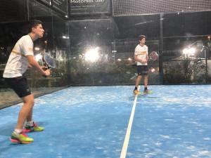 Max Rico y Marc Rico - Jugadores de paddle categoría cadete campeonato Catalunya