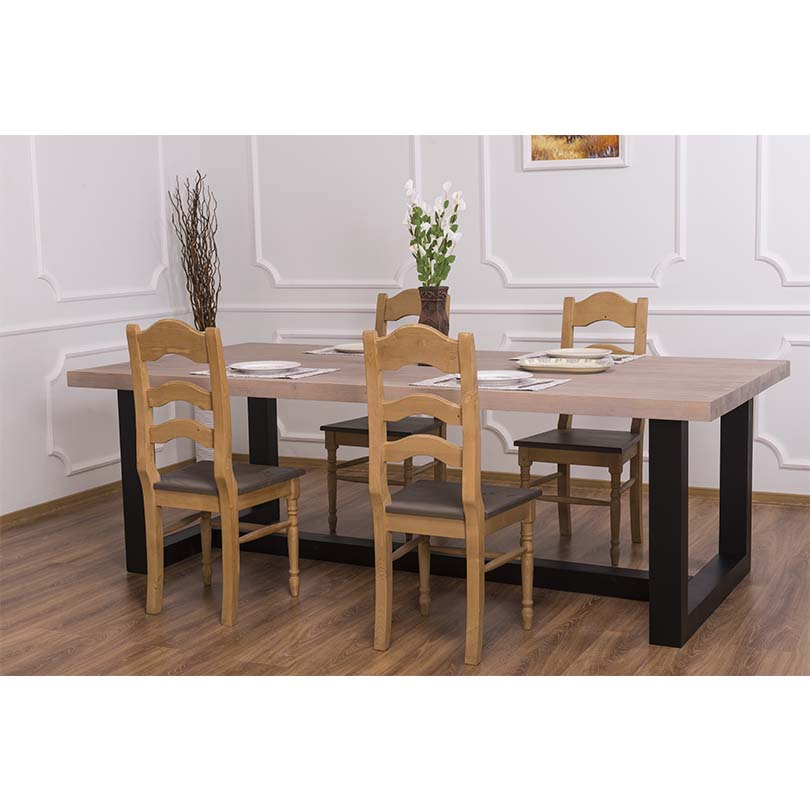 table a manger en bois massif personnalisable